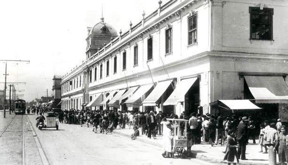 Así lucía la avenida Saenz Peña en el Callao. (Foto: Facebook La Lima antigua)