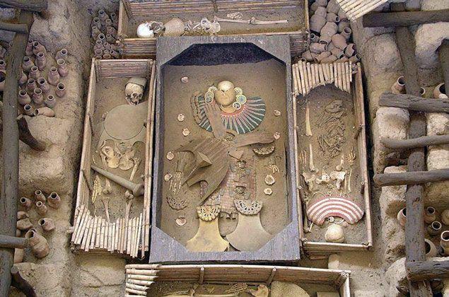 Restos encontrados de la cultura preincas Huari