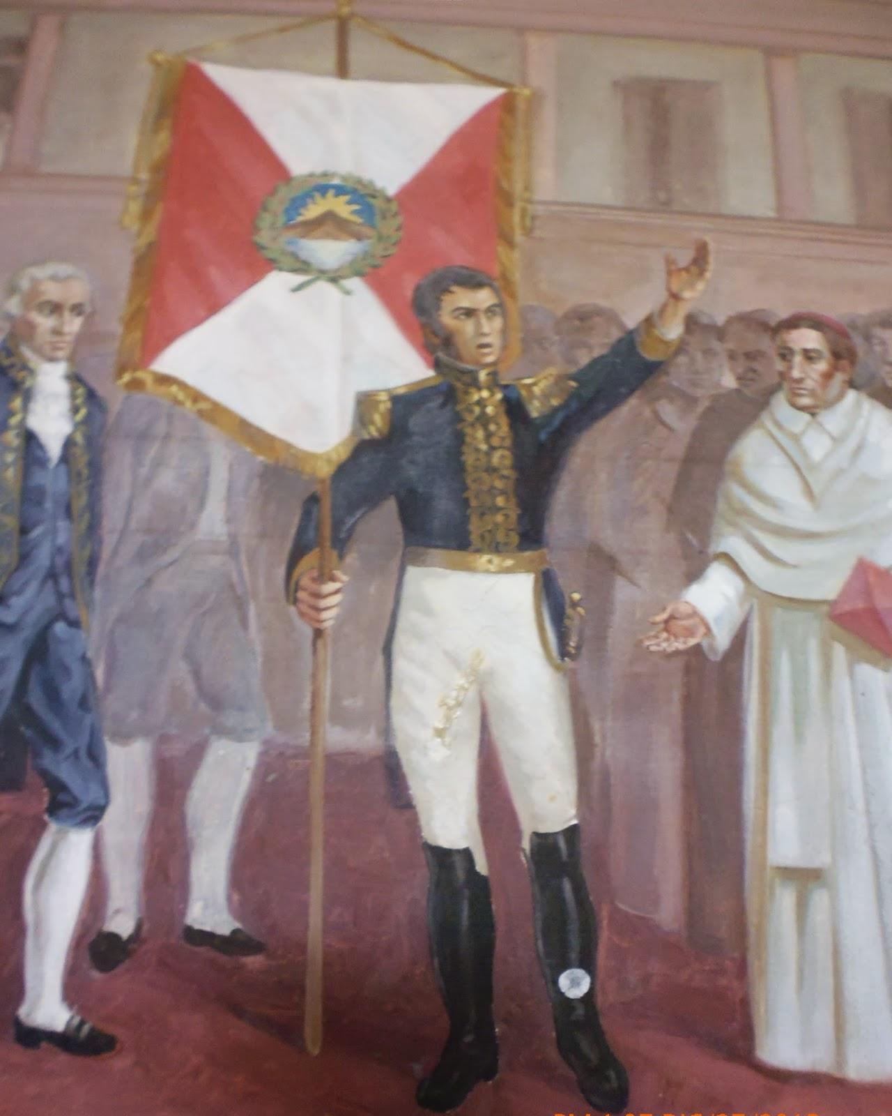 San Martín proclamando la Independencia del Perú en Lima.