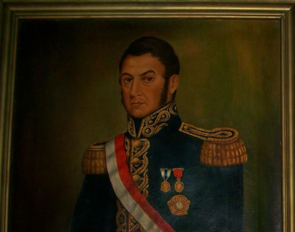 Don José de San Martín como Protector del Perú.